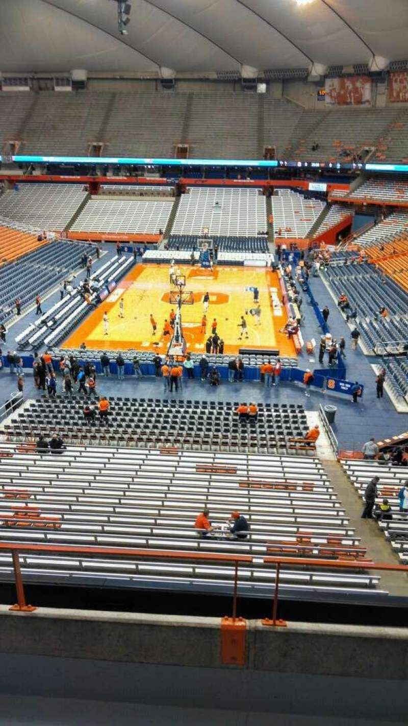 Seating view for Carrier Dome Section 316 Row D Seat 5