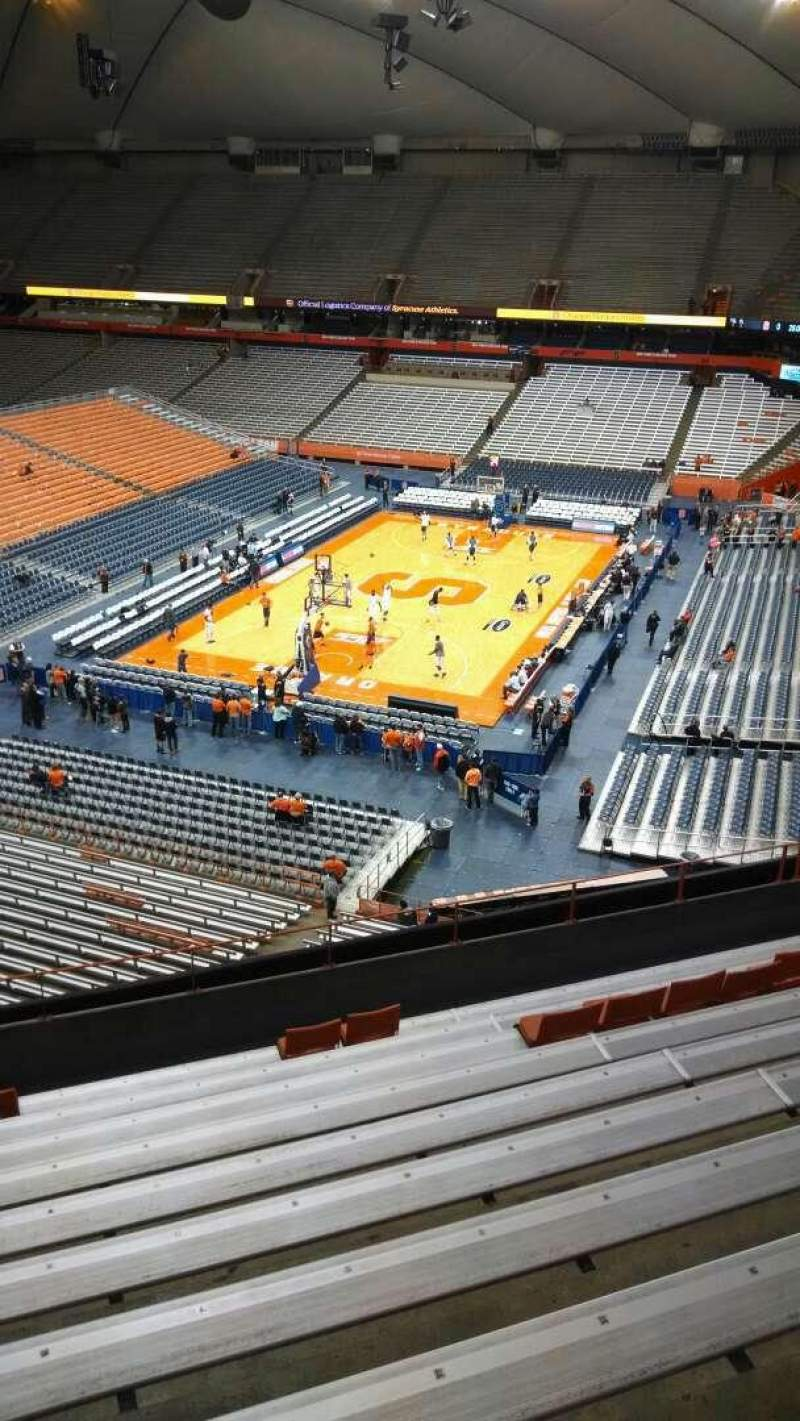 Seating view for Carrier Dome Section 315 Row K Seat 10