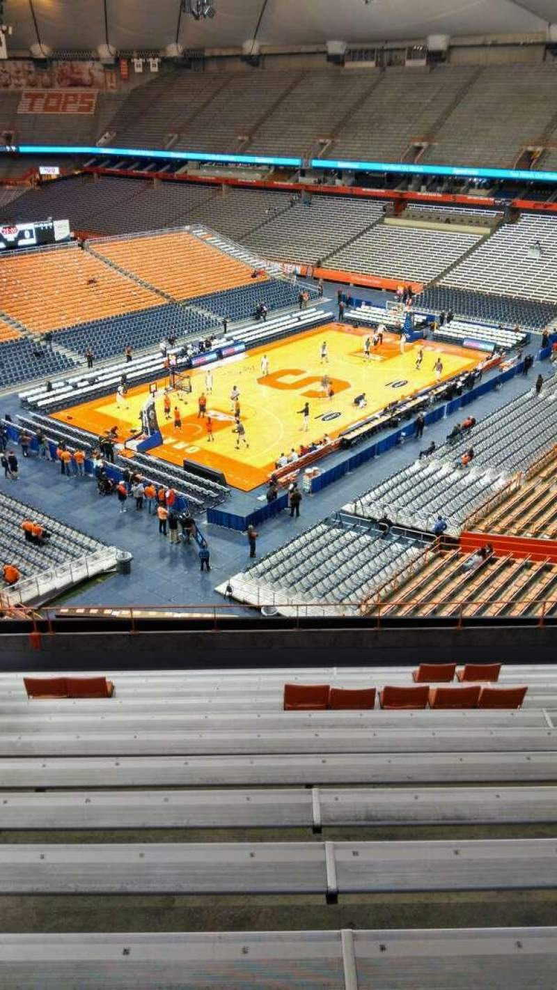 Seating view for Carrier Dome Section 315 Row M Seat 115