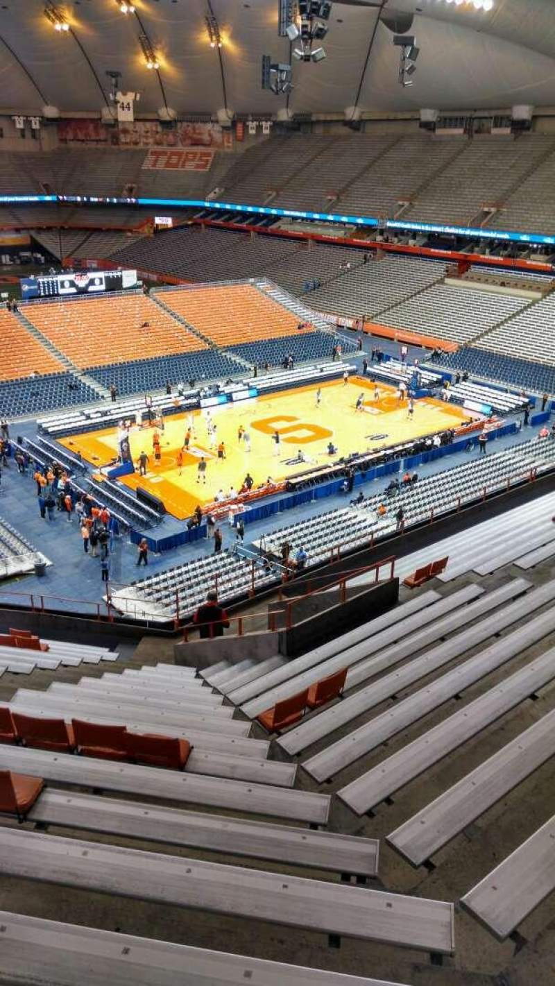 Seating view for Carrier Dome Section 314 Row R Seat 109