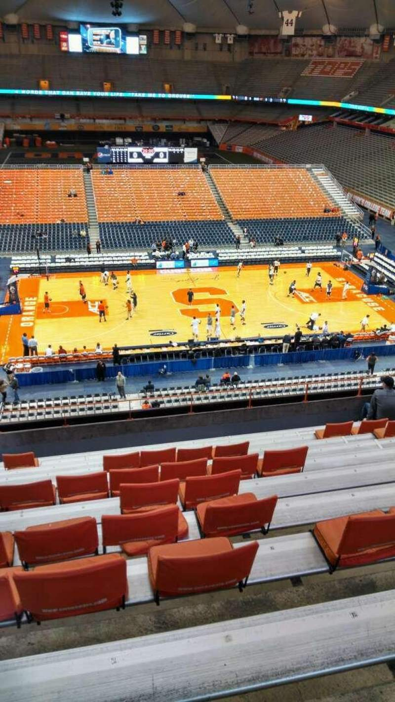 Seating view for Carrier Dome Section 311 Row L Seat 112