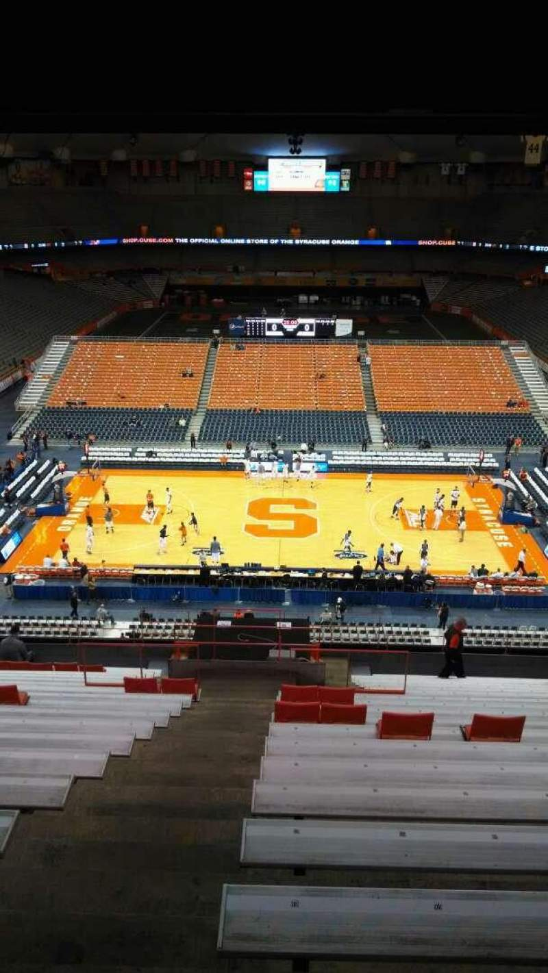 Seating view for Carrier Dome Section 310 Row T Seat 101