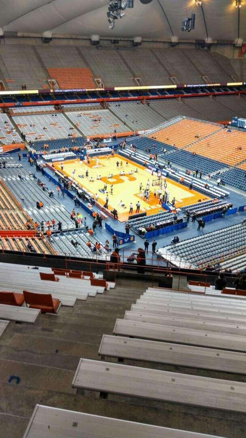 Seating view for Carrier Dome Section 306 Row T Seat 102