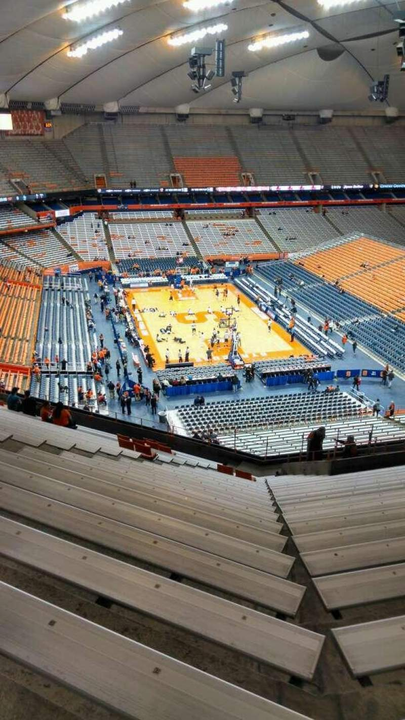 Seating view for Carrier Dome Section 305 Row V Seat 112