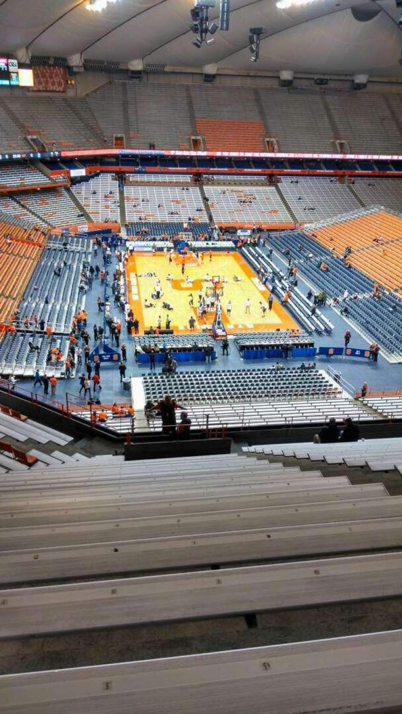 Seating view for Carrier Dome Section 306 Row U Seat 6