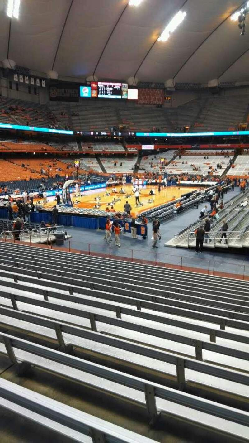 Seating view for Carrier Dome Section 102 Row R Seat 2