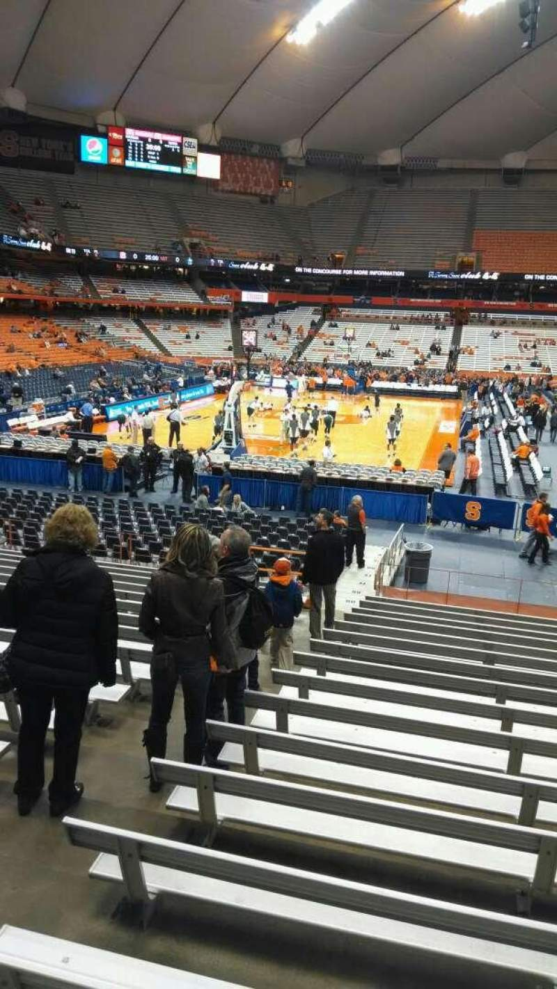 Seating view for Carrier Dome Section 103 Row Q Seat 104