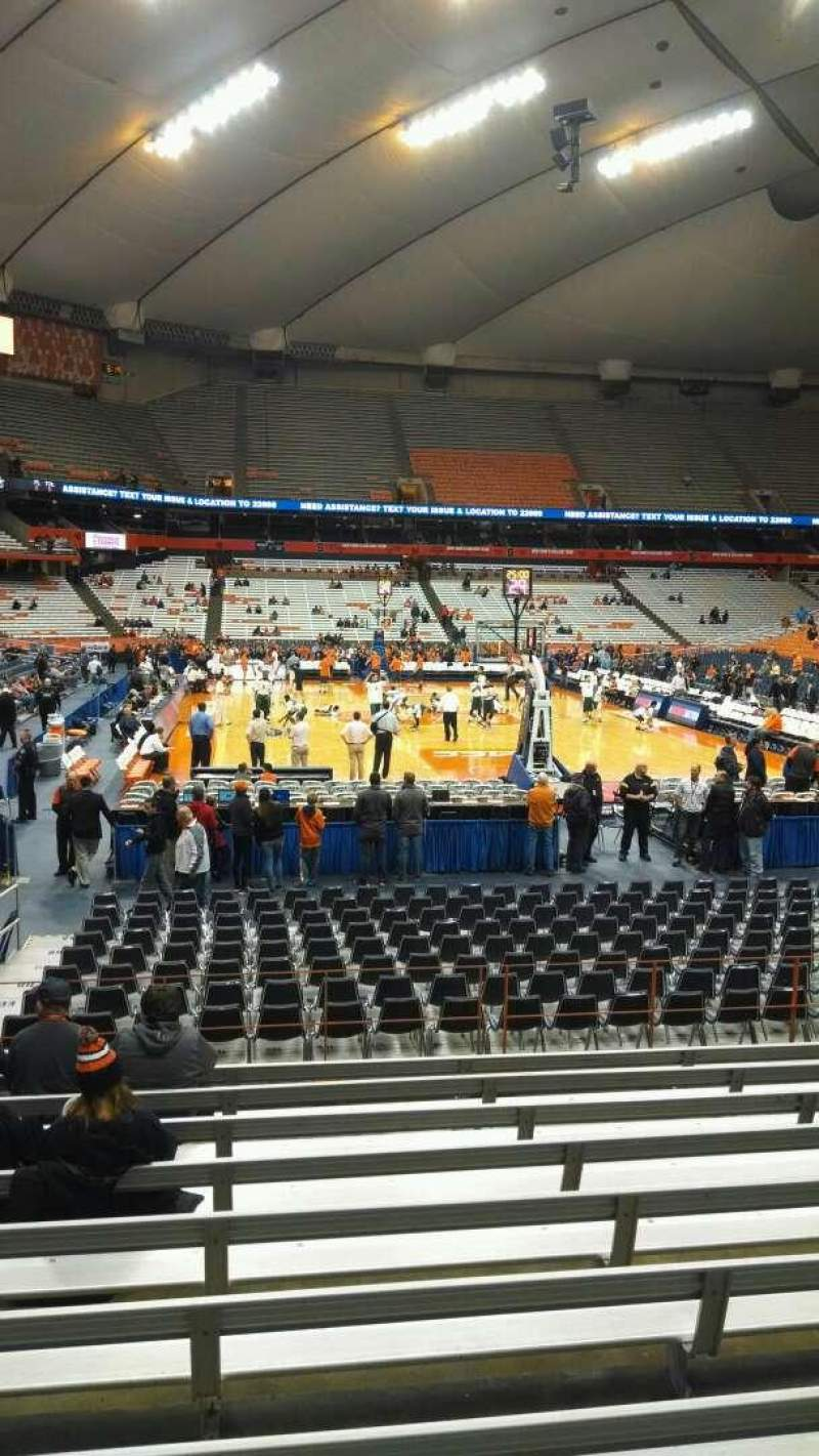 Seating view for Carrier Dome Section 104 Row K Seat 105