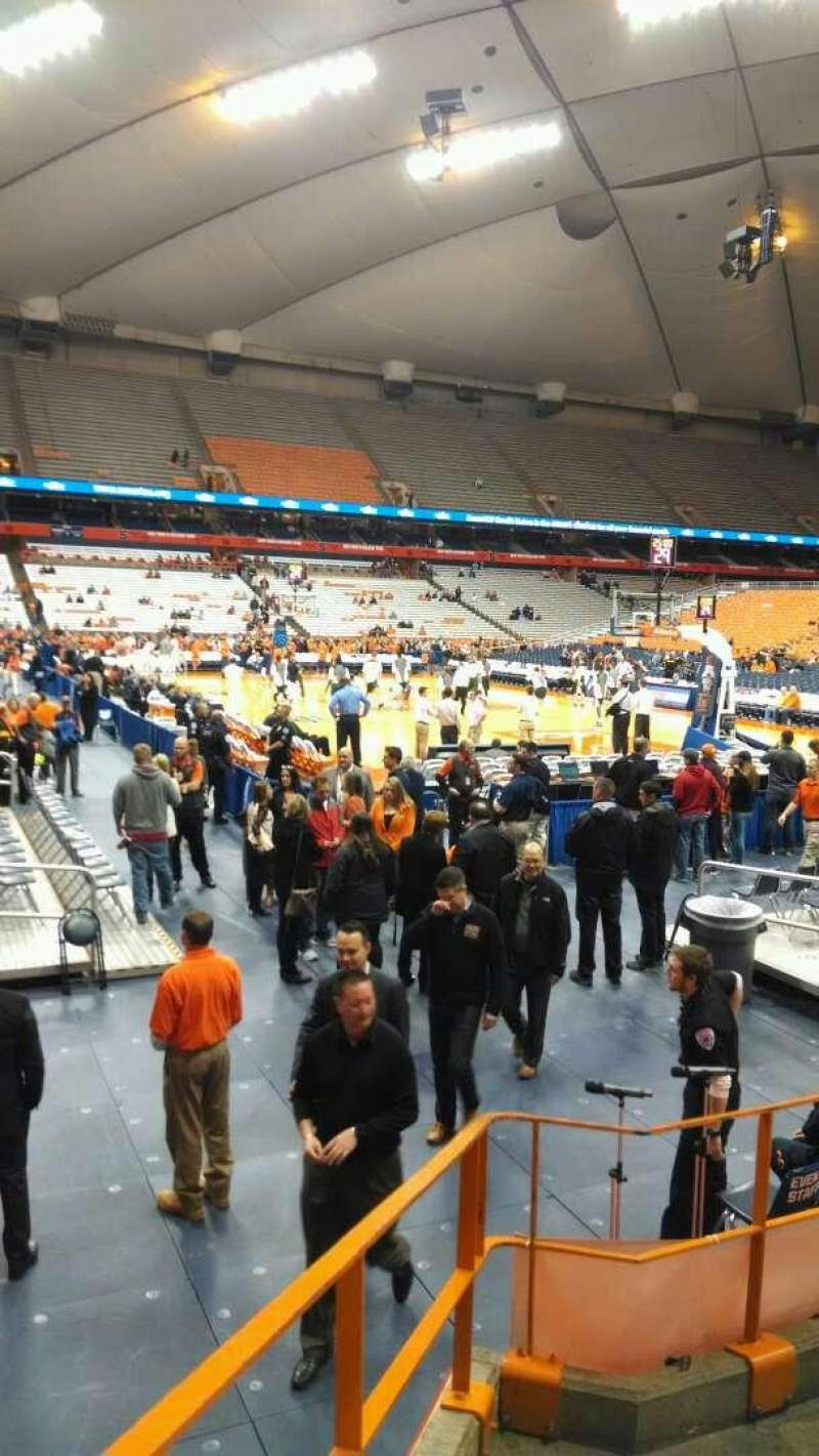 Seating view for Carrier Dome Section 105 Row E Seat 11
