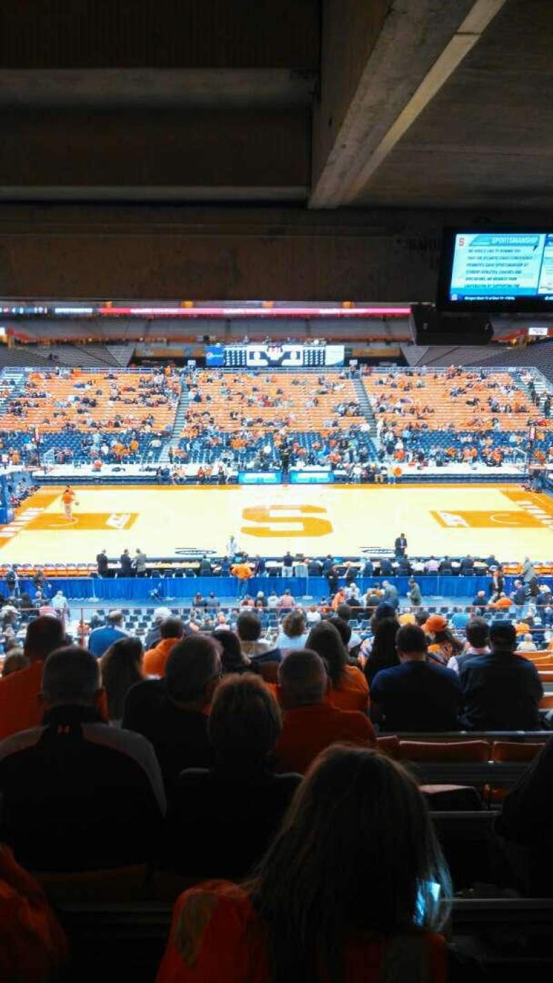 Seating view for Carrier Dome Section 212 Row M Seat 114