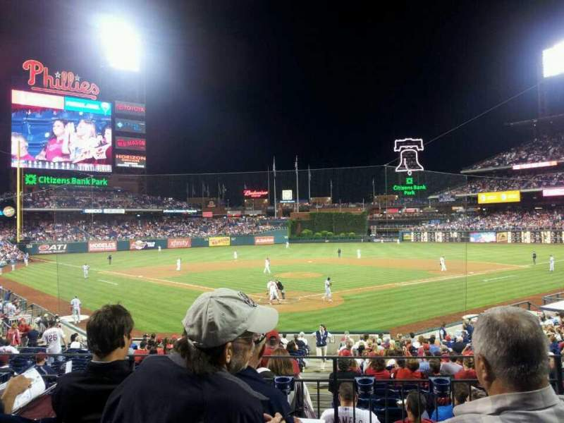Seating view for Citizens Bank Park Section 123 Row 24 Seat 2