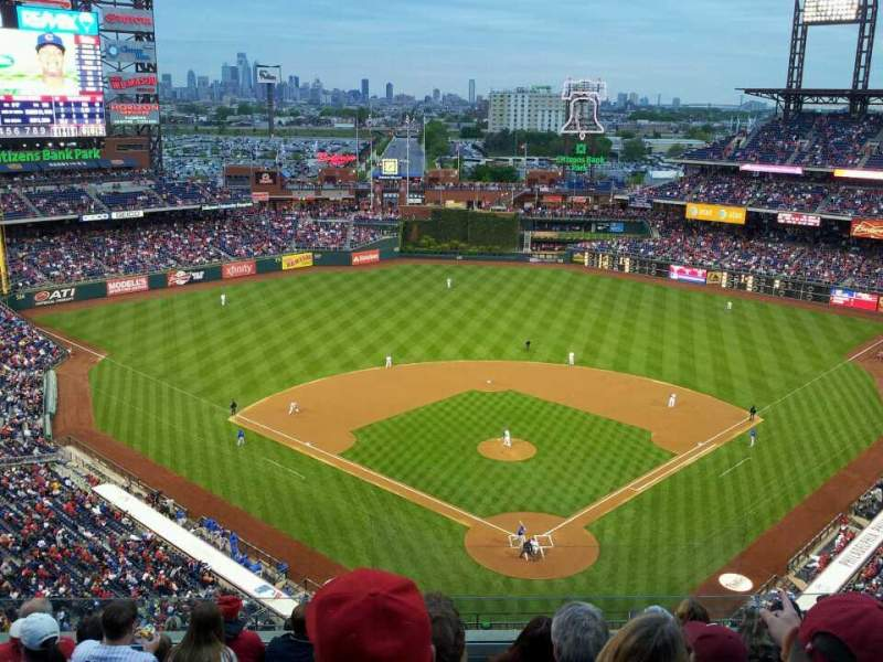 Seating view for Citizens Bank Park Section 421 Row 8 Seat 17