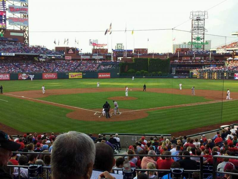 Seating view for Citizens Bank Park Section 123 Row 24 Seat 3