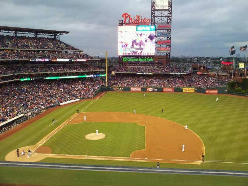 Seating view for Citizens Bank Park Section 315 Row 1 Seat 7