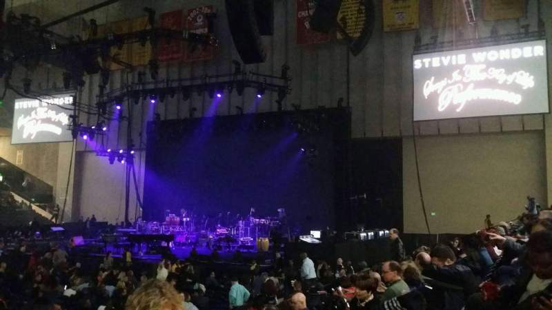 Seating view for Royal Farms Arena Section 110 Row F Seat 6
