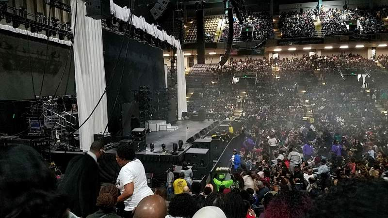 Seating view for Royal Farms Arena Section 105 Row J Seat 9
