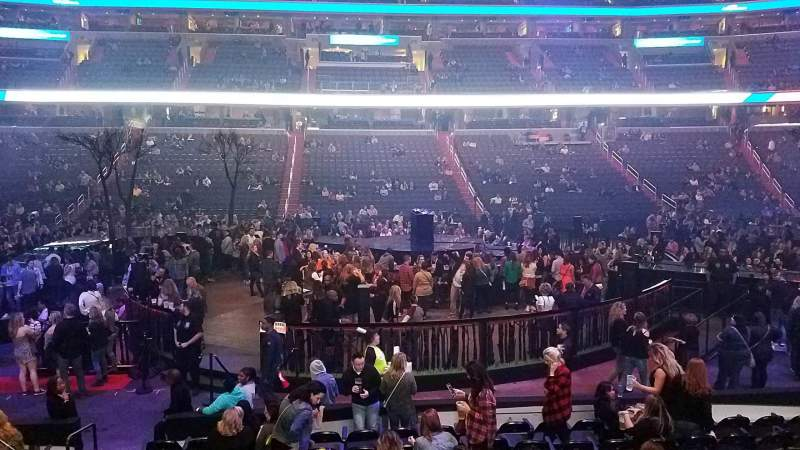 Seating view for Capital One Arena Section 100 Row L Seat 4