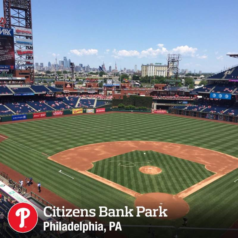 Seating view for Citizens Bank Park Section 321 Row 3 Seat 16