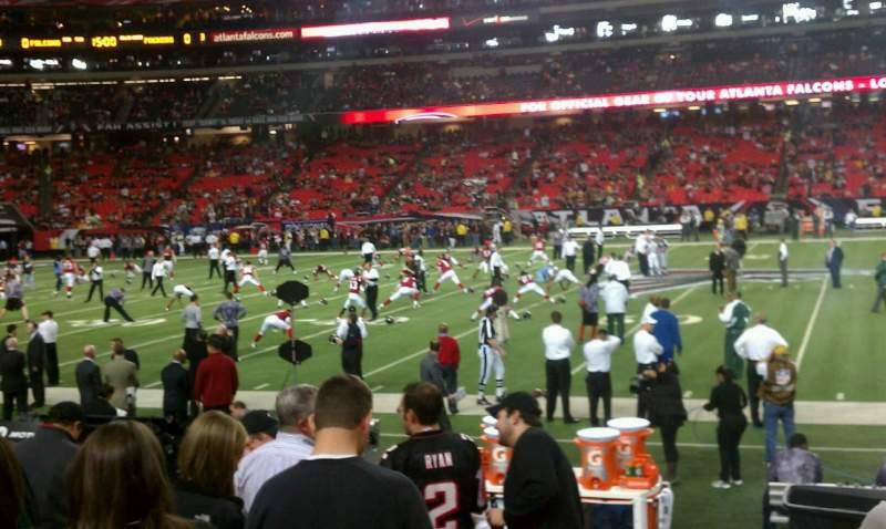 Seating view for Georgia Dome Section 115 Row 7 Seat 11