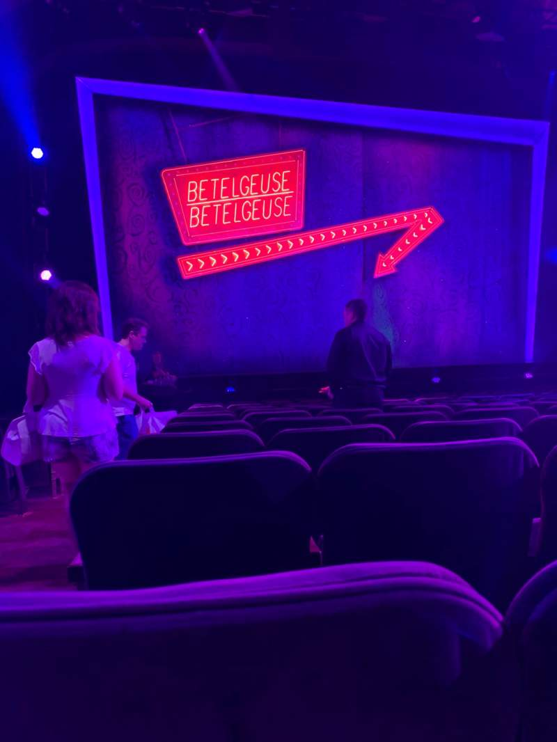 Seating view for Winter Garden Theatre Section Orchestra C Row M Seat 118