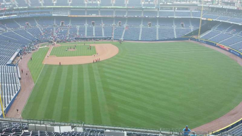 Seating view for Turner Field Section 435 Row 25 Seat 1
