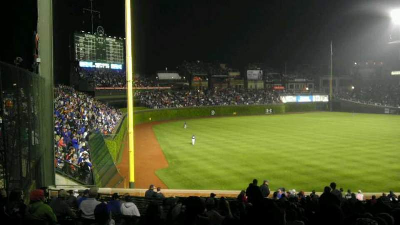 Seating view for Wrigley Field Section 201 Row 12 Seat 13