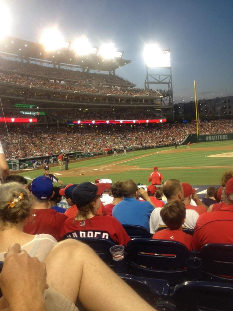 Seating view for Nationals Park Section 128 Row N Seat 7