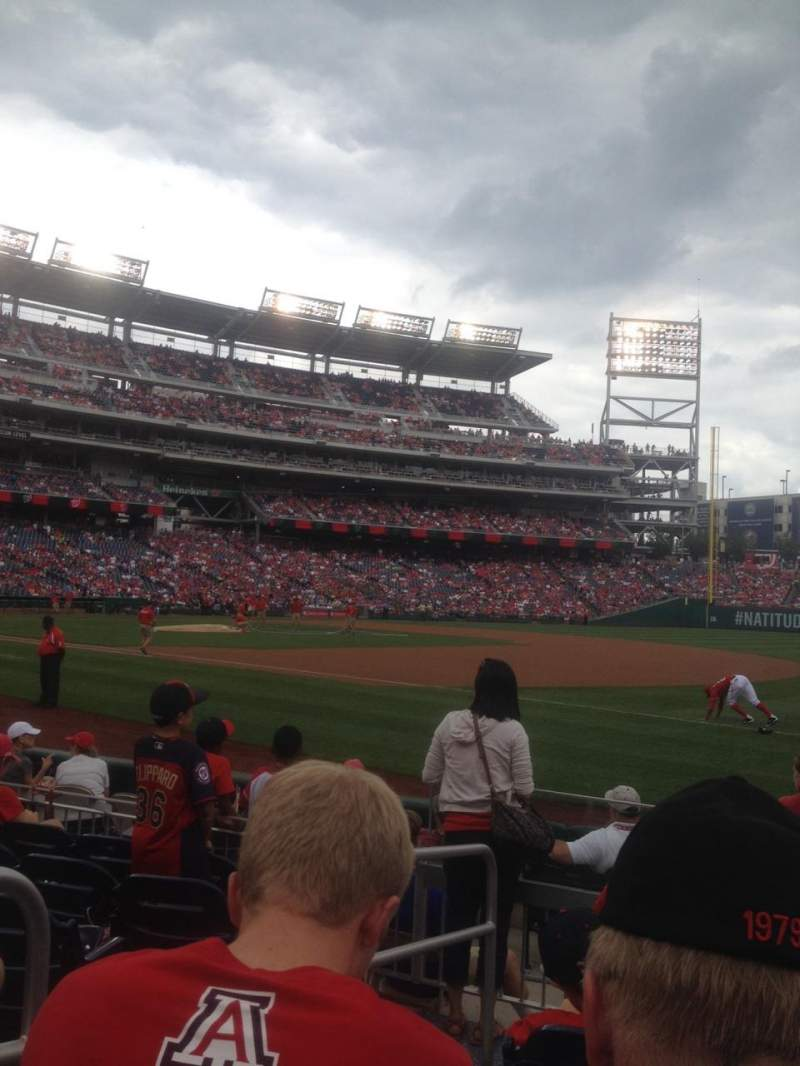 Seating view for Nationals Park Section 133 Row J
