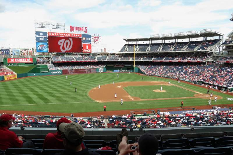 Seating view for Nationals Park Section 207 Row D Seat 14