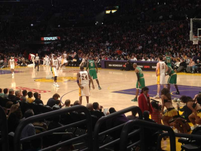 Seating view for Staples Center Section 108 Row 7 Seat 18