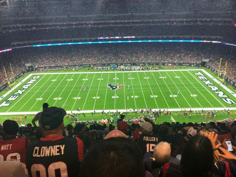 Seating view for NRG Stadium Section 608 Row P Seat 22