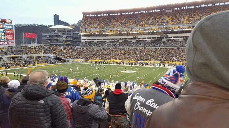 Seating view for Heinz Field Section 113 Row ee Seat 23
