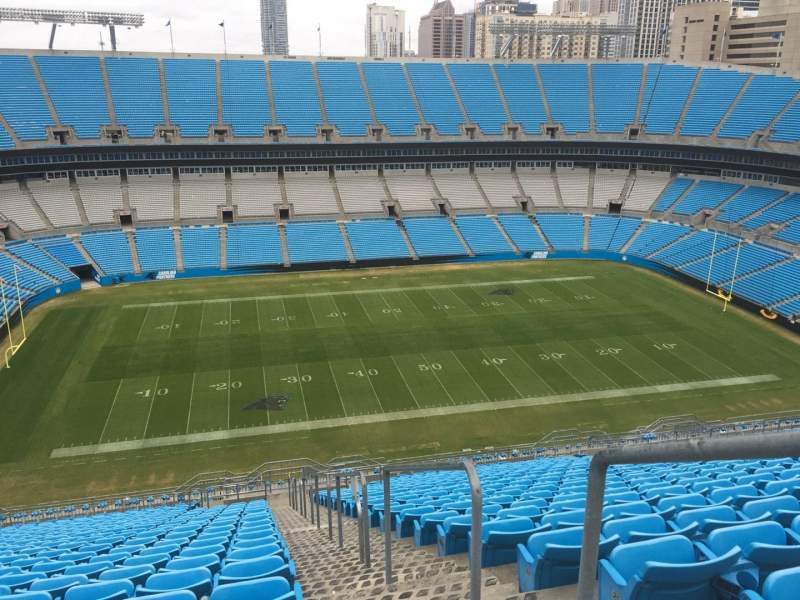 Seating view for Bank of America Stadium Section 544 Row 25 Seat 1, 2, 3, 4