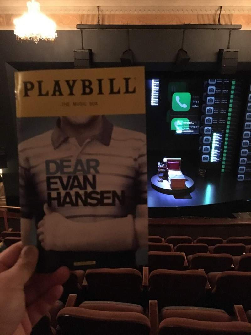 Seating view for Music Box Theatre Section Mezzanine C Row G Seat 107