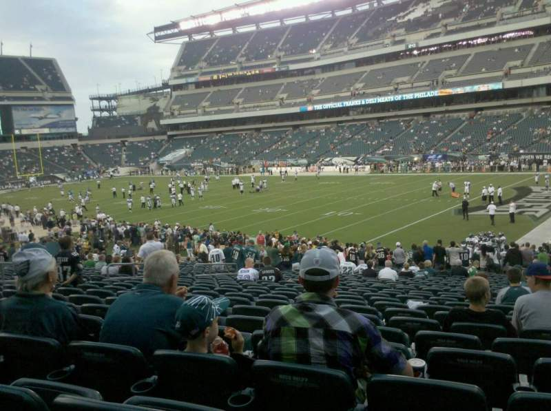 Seating view for Lincoln Financial Field Section 106 Row 15 Seat 12