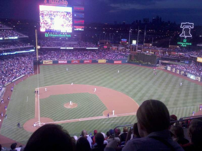 Seating view for Citizens Bank Park Section 416 Row 11 Seat 4