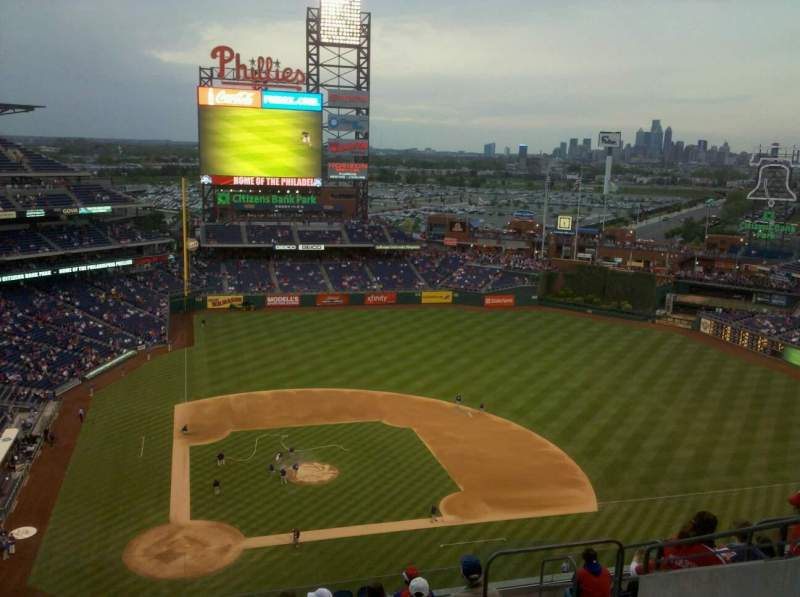 Seating view for Citizens Bank Park Section 417 Row 7 Seat 17