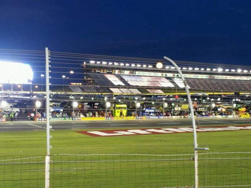 Seating view for Charlotte Motor Speedway Section chrysler Row 9 Seat 14