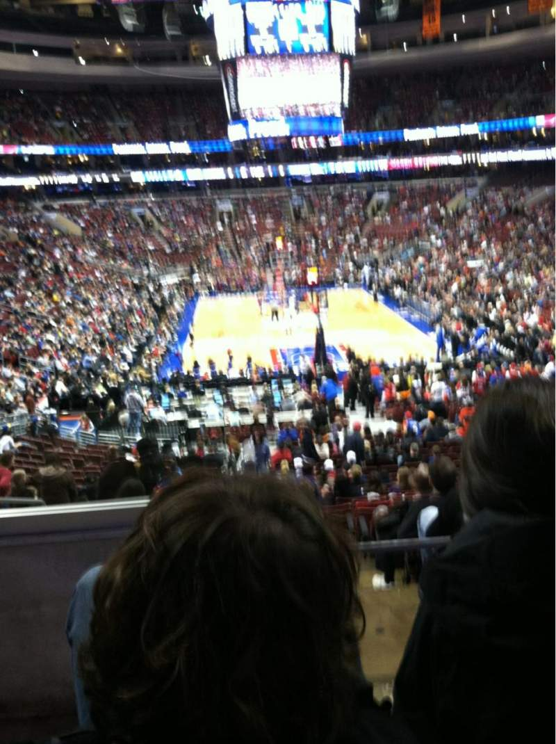 Seating view for Wells Fargo Center Section 119 Row 26 Seat 1