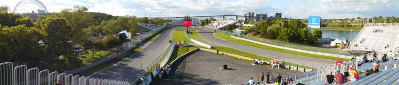 Seating view for Circuit Gilles Villeneuve Section 34 Row Top