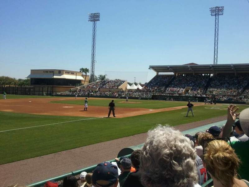 Seating view for Joker Marchant Stadium Section 302 Row G Seat 21