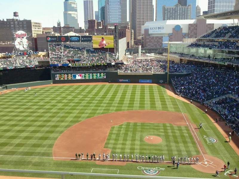 Target Field, section: 320, row: 4, seat: 9