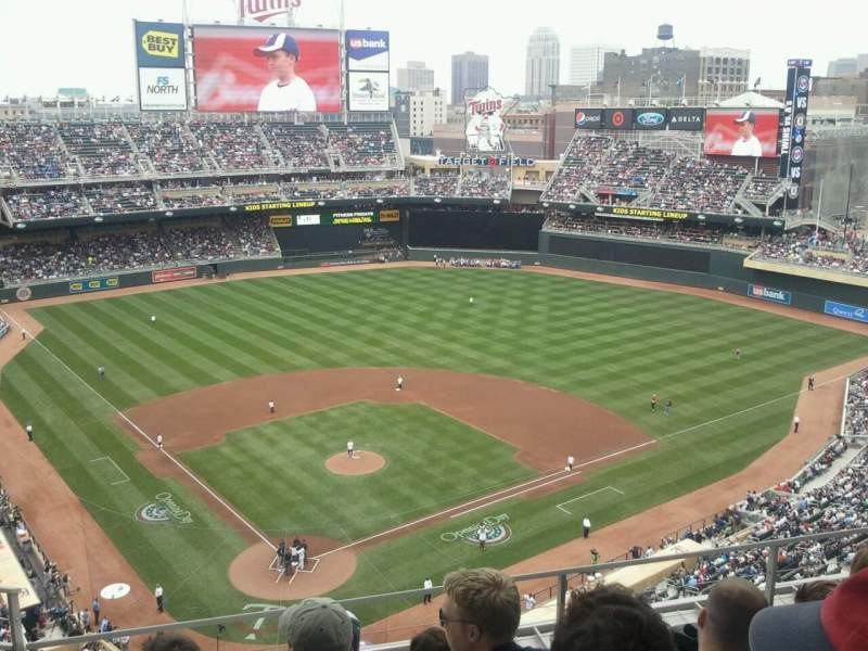Seating view for Target Field Section 313 Row 5