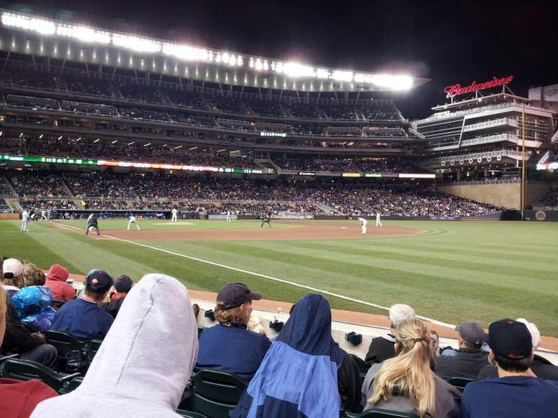 Seating view for Target Field Section 103 Row 6 Seat 8