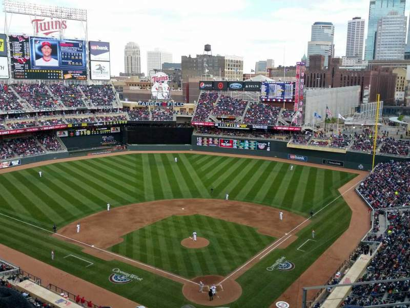 Seating view for Target Field Section 316 Row 5 Seat 3