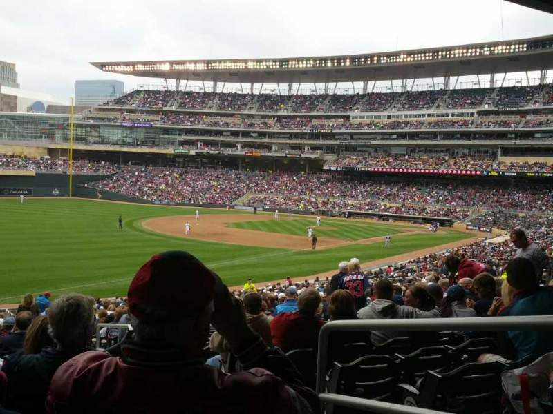 Seating view for Target Field Section 126 Row 38 Seat 1