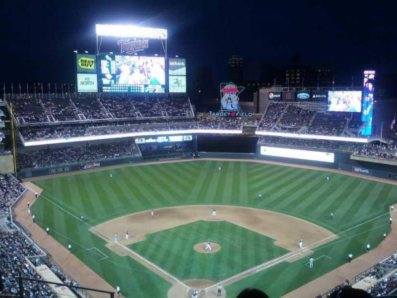 Seating view for Target Field Section 314 Row 6 Seat 12