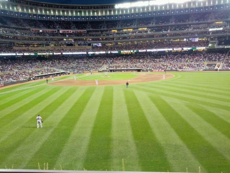 Seating view for Target Field Section 134 Row 3 Seat 3