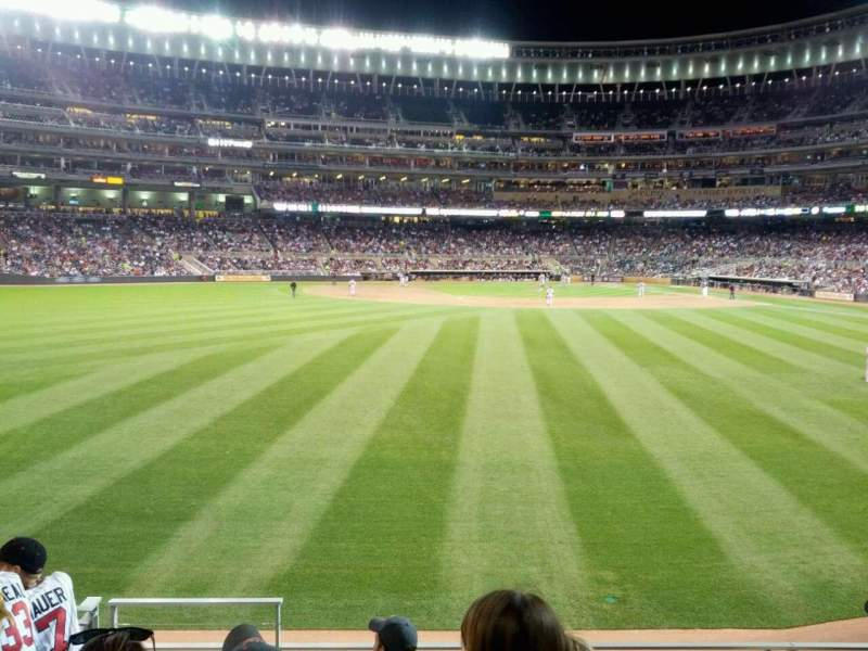 Seating view for Target Field Section 131 Row 6 Seat 12