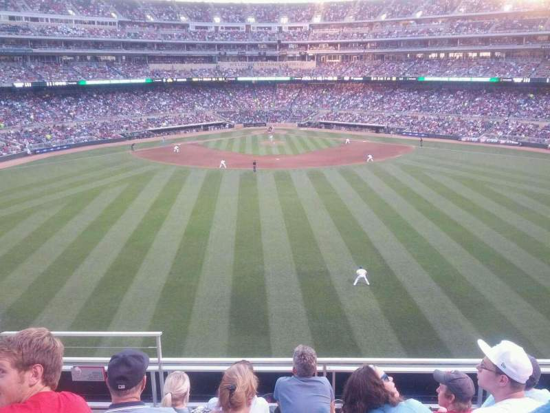 Seating view for Target Field Section 236 Row 5 Seat 17